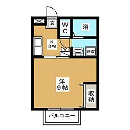 サンシャインベル[2階]の間取り
