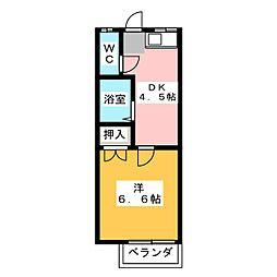 アパートメント1TF−TO城北[2階]の間取り