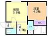 間取り,1DK,面積23.81m2,賃料3.5万円,札幌市営南北線 中の島駅 徒歩11分,札幌市営南北線 平岸駅 徒歩13分,北海道札幌市豊平区中の島一条6丁目3番3号