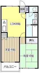 レジデンスMC[4階]の間取り