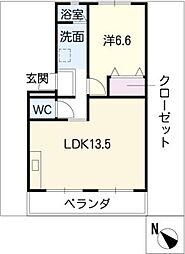 みゆきコーポ[4階]の間取り