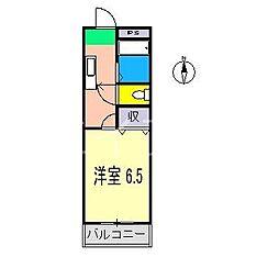ニシジンハイツ[2階]の間取り