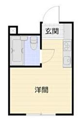 神奈川県相模原市中央区向陽町の賃貸アパートの間取り