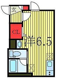 JR山手線 池袋駅 徒歩19分の賃貸アパート 1階ワンルームの間取り