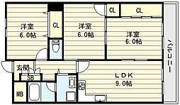 クレストコート[3階]の間取り