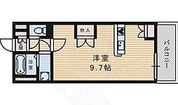 JR東海道・山陽本線 摂津富田駅 徒歩13分の賃貸アパート 2階ワンルームの間取り