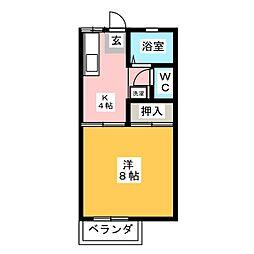 ハイム江戸橋A[2階]の間取り