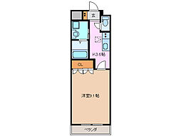 ウエルハウス[1階]の間取り