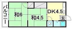 中川荘 南棟[108 号室号室]の間取り