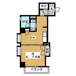静岡常磐町エンブルコート[8階]の間取り