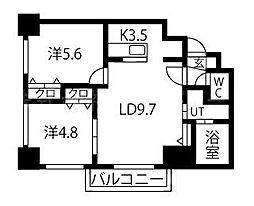シャトーブラン24[9階]の間取り