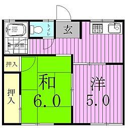 メゾン八ヶ崎A[102号室]の間取り