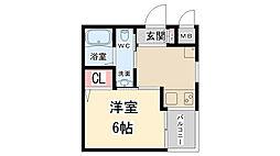 兵庫県伊丹市稲野町1丁目の賃貸マンションの間取り