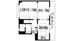 兵庫県川西市笹部2丁目の賃貸マンションの間取り