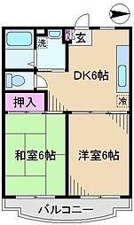 東京都北区豊島3丁目の賃貸マンションの間取り