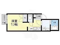 東武伊勢崎線 東向島駅 徒歩4分の賃貸アパート 2階ワンルームの間取り