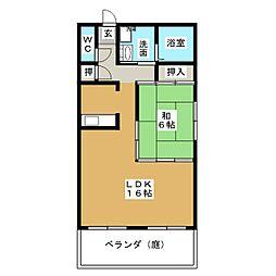 ローズマンション白壁[1階]の間取り