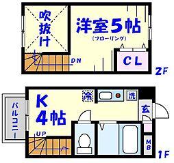 ヤサカハイムIII[506号室]の間取り