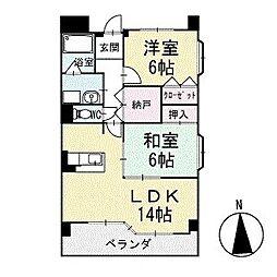 グランド・ステージ桜華 2階[203号室]の間取り