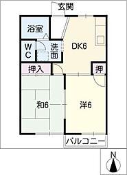 コートビレッジ宮根台A・B棟[2階]の間取り