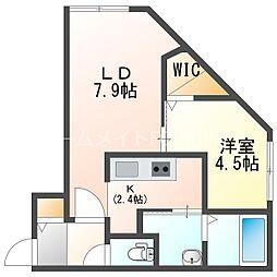 ブランシャールNEO(仮称:ブランシャールN5W25) 3階1LDKの間取り