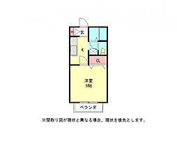 愛知県小牧市大字池之内の賃貸アパートの間取り