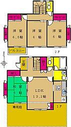 [一戸建] 東京都町田市南つくし野1丁目 の賃貸【/】の間取り