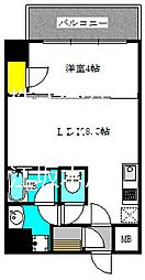 ブエナビスタ江坂広芝町 8階1LDKの間取り