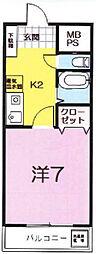 5マユミビル[305号室]の間取り