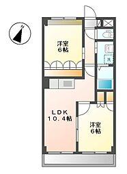 ロジュモ(LOGEMENT)[2階]の間取り