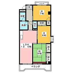 第2全並ビル[2階]の間取り