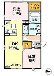 D-room円行2丁目[2階]の間取り