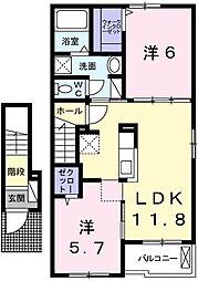 プレシャスD[2階]の間取り