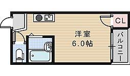 セラ天王寺A[303号室]の間取り