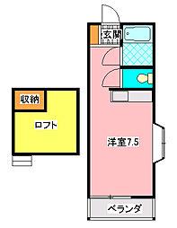 カズハウス千葉寺[206号室]の間取り