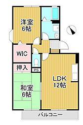セジュール未来Ⅱ A棟[2階]の間取り