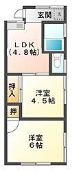 千葉県船橋市三山4丁目の賃貸アパートの間取り