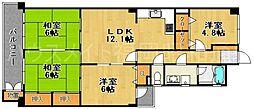 第32プリンスマンション小笹[4階]の間取り