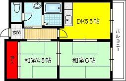 オレンジマンション[4階]の間取り