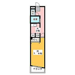 クレスト岩塚[5階]の間取り