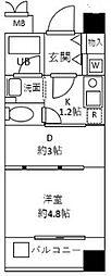 神奈川県伊勢原市田中の賃貸マンションの間取り