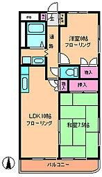 メゾンドビュー[3階]の間取り
