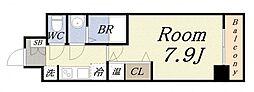 ララプレイスOSAKADOMECITYフトゥーロ 9階1Kの間取り