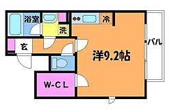東京都調布市布田5丁目の賃貸マンションの間取り