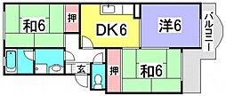 神畠ハイム[2階]の間取り