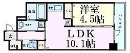 ファーストフィオーレ梅田イースト 3階1LDKの間取り