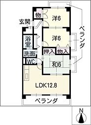 ステップIII[3階]の間取り