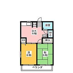 シェモア A・B・C・D[2階]の間取り