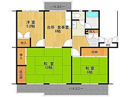 UR中山五月台住宅[23-502号室]の間取り