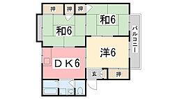 ユートピアSK A棟[103号室]の間取り